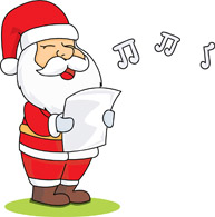 santa claus singing clipart